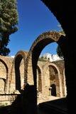 哈马姆,古色古香的阿拉伯浴在朗达,马拉加省,安大路西亚,西班牙 库存图片