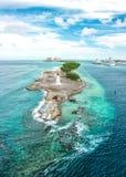 巴哈马拿骚加勒比海天空美好的风景 免版税库存照片