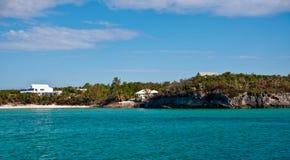 巴哈马海岸线 库存图片