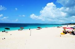 巴哈马海滩 免版税库存照片