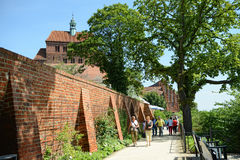 哈费尔贝尔格都市风景和有大教堂的哈弗尔河ba的 库存图片