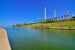 哈代拉小河在以色列 库存照片