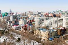 哈巴罗夫斯克,俄罗斯 都市风景 图库摄影