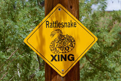 响尾蛇符号 库存照片