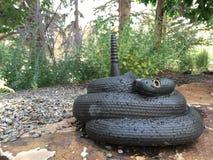 响尾蛇雕象 免版税库存照片