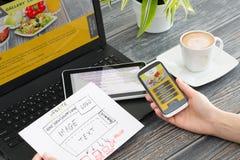 响应能力的网络设计 免版税图库摄影