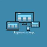 响应能力的网络设计 向量例证