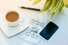响应能力的网络设计 免版税库存图片