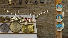 响铃、板材、盘和锁在显示 影视素材