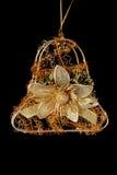响铃圣诞节装饰金子 图库摄影