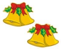 响铃圣诞节贴纸向量 库存照片
