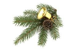 响铃圣诞节金子 库存照片