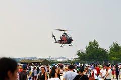 响铃在偏心的眼镜蛇AH1-F直升机2015年 图库摄影