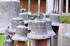 响铃在圣徒格特鲁德牧师会主持的教堂里  免版税库存照片