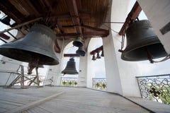 响铃在圣洁复活教会里 图库摄影
