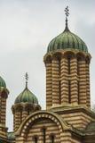 响铃教会详细资料圆顶塔塔视图 免版税库存照片