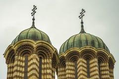 响铃教会详细资料圆顶塔塔视图 图库摄影