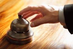 响铃旅馆服务 免版税库存照片
