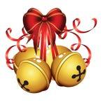 响铃查出的圣诞节金子 免版税库存照片