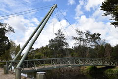 响铃游行走的桥梁塔斯马尼亚岛 免版税库存图片