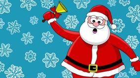 响铃滑稽的圣诞老人 库存图片