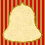 响铃的概述与红色金黄条纹的 库存照片