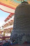 响铃黑色中国寺庙 库存图片