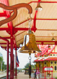 响铃,华Hin火车站。(公共场所) 免版税库存照片