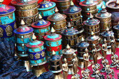 响铃buddhas西藏 免版税库存图片