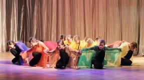 哑舞蹈的马戏团聋和 免版税库存图片