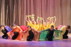 哑舞蹈的马戏团聋和 库存图片