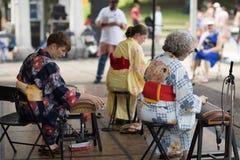 哥伦布亚洲人节日 免版税库存图片