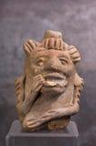 哥伦布发现美洲大陆以前玛雅口哨。 免版税库存图片
