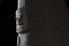 哥伦布发现美洲大陆以前雕象 免版税库存图片