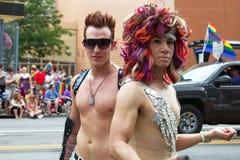 哥伦布同性恋自豪日游行 库存照片