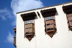 哥伦布房子在大加那利岛的拉斯帕尔马斯 免版税库存图片
