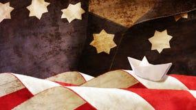 哥伦布日 庆祝7月四日担任主角数据条主题 免版税图库摄影
