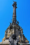 哥伦布纪念碑在巴塞罗那,西班牙 免版税图库摄影
