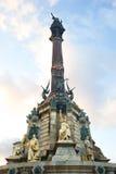 哥伦布纪念碑在巴塞罗那 图库摄影