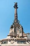 哥伦布纪念碑,巴塞罗那。 西班牙。 免版税图库摄影
