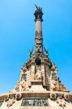 哥伦布纪念碑,巴塞罗那。 西班牙。 免版税库存照片