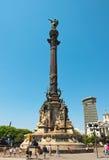 哥伦布纪念碑,巴塞罗那。 西班牙。 库存图片
