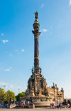 哥伦布纪念碑,巴塞罗那。西班牙。 库存照片