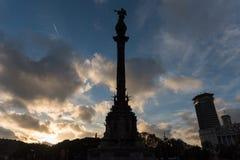 哥伦布纪念碑-巴塞罗那,西班牙 库存图片