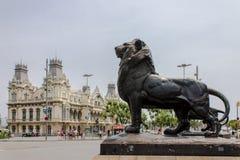 哥伦布纪念碑巴塞罗那 免版税图库摄影
