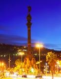 哥伦布纪念碑 巴塞罗那 库存照片