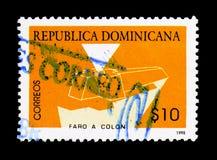 哥伦布陵墓,大约1998年 库存图片