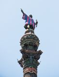 哥伦布雕象 免版税库存图片