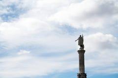哥伦布雕象 库存照片