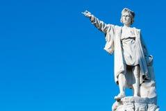 哥伦布雕象 免版税图库摄影